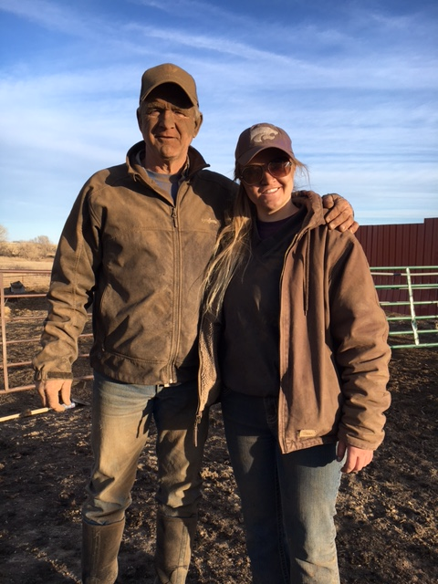 This father-daughter team got a little dirty at the chute!